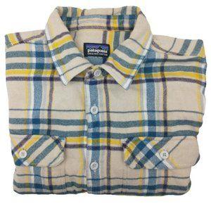 Patagonia Tan Long Sleeve FJord Flannel Shirt